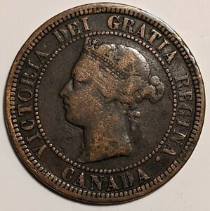 1881H Canada Large Cent, Around The Clock Doubling