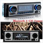 4-CH Output Car In-dash Bluetooth MP3 Stereo Radio Player FM USB/SD/AUX & Remote