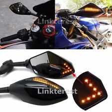 Integrated Turn Signal Mirrors For Honda CBR 600 F4i 929 954 RR F1 F2 Hurricane