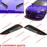 Carbon Fiber Twill Hood Vent Grille Air Duct Trim fo Hyundai Genesis Coupe 13-16