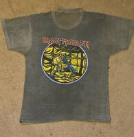 Vintage Og 80s Iron Maiden piece of mind world tour 1983 concert Shirt T-shirt
