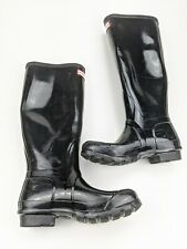 Hunter Black Rubber Women's Rainboots Knee High Size 5