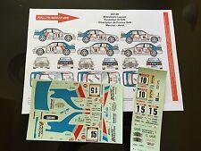 DECALS 1/24 MITSUBISHI LANCER MERCIER RALLYE MONT BLANC 1997 WRC RALLY HASEGAWA