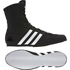 Adidas Box Hog 2 Boxing Boots Mens Black Sports Shoes Trainers Sizes 3.5-14.5