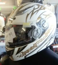 Nitro Aikido White and Gold Helmet
