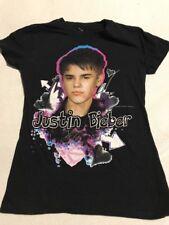 Girls Justin Bieber T-shirt Size Medium 10/12