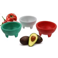 Molcajete 3pc Salsa Bowl for Guacamole Sauce Chips Deep Mexican 3 Colors NEW