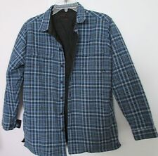 Plaid Revisable Quilted Shirt /Jacket Button Down BOYS Sz L (14-16) Piping Hot