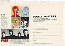 THE BEATLES 1968 U.K.BANNER AND PSYCHEDELIC POSTERS ORDER FORM