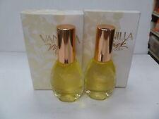 2 BOTTLES VANILLA MUSK PERFUME PARFUM BY COTY 0.5 oz / 14.7 ml, Dab-On,