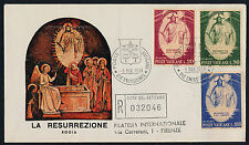 Vatican 467-9 on Registered FDC - Easter, The Resurrection, Fra Angelico, Art