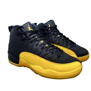 Nike Air Jordan 12 Retro GS 7Y Black Yellow Basketball Sneakers Shoes Steelers