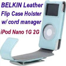 $25 BELKIN LEATHER Flip Case~ 1st Gen 1G Apple IPOD Nano (2G too!)~Lite-BLUE~NEW