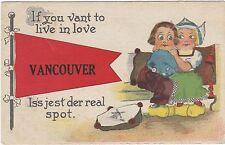 CANADA COMIC DUTCH CHILDREN IN LOVE VANCOUVER POSTCARD