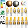 US 20/10x Dimmable G4 COB LED Light AC/DC 12V 3W 6W COB LED Lamp Bulb