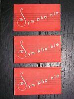 """LOT DE 3 BOITES D'AIGUILLES ANCIENNES """" Symphonie """" 3 X 3 aiguilles durables"""