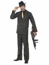 "20s 1920s Gangster Zoot Suit linea uomo Costume M 38-40/"" BLACK Da Smiffys"