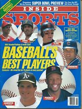 Feb. 1992 CANSECO-PUCKETT-BONDS-LARKIN Sports Illustrated  NO LABEL