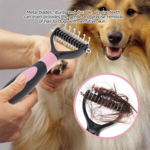 Pet Grooming Brush Fur Knot Cutter Hair Remover Rake Cat Dog Comb Tool Cleaner