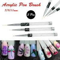 Nail Art Design Brush Set Detail Drawing Liner Artist Acrylic Painting Pen Tool