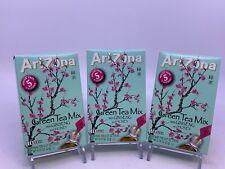 3 AriZona Green Tea With Ginseng Sugar Free Stix, 10 Count Per Box 3 boxes