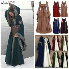 Women's Vintage Victorian Renaissance Gothic Dress Medieval Dress Costume Hooded