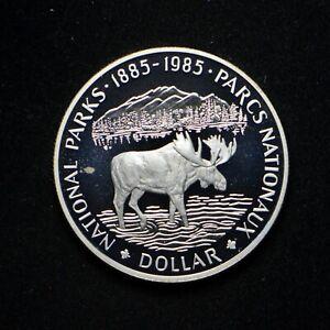 1985 Canada Silver Dollar National Parks in Cap (slx4035)