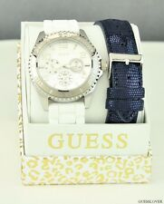 FREE Ship USA Chic Ladies Watch GUESS Rubber Leather New U0422L1 Prime Lovely