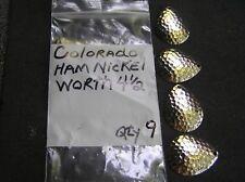 WORTH COLORADO 4 1/2  HAMMERED NICKLE SPINNER BAIT BLADES PK. OF 9