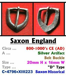 """Artifact • Saxon England • Silver Buckle - """"D"""" Type • 9th-11th Cent' • C•4796•"""