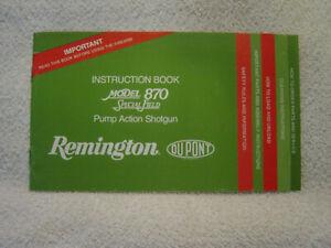 REMINGTON MODEL 870 SPECIAL FIELD pump shotgun instruction owner manual
