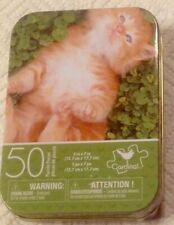 L@K Cute Orange Kitten Tin With Puzzle New Sealed