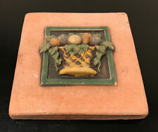 New listing Vintage Arts & Crafts Gothic Ellison Pottery Tile 3.75�