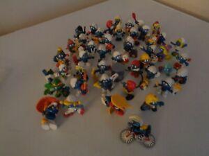 45 piece`vintage  Peyo / Schleich Smurfs figures~COLLECTED THROUGH THE YEARS~