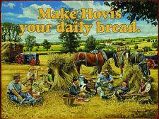 Hovis, Vintage Farm Tractor, Shire Horses, Countryside, Medium Metal/Tin Sign