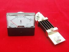 1PC DC0- 600A Analog Ammeter Panel AMP Current Meter 670  60*70MM with Shunt