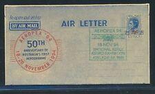 13496) aerogramme australia aeropex Green cachet 18.11.94