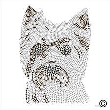 Yorkshire Terrier Perro del Rhinestone Diamante transferencia hierro en la revisión de Cristal Adorno