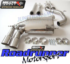 Milltek Audi RS3 8P Exhaust Cat Back Resonated & Secondary Cat ByPass DeCat Pipe