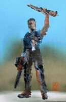 LIMITED PRINT Abstract Ash Williams Evil Dead Campbell Horror Movie Art Poster