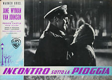 """IMMORTEL AMOUR (MIRACLE IN THE RAIN)"" Affiche originale italienne (Jane WYMAN)"