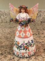"2002 Jim Shore Heartwood Creek ""Angel Of Gratefulness"" Figurine Flowers"