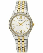 Seiko SUR686 Ladies Special Value Two Tone Steel Solar Quartz Date 28mm Watch