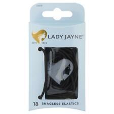 Lady Jayne 18 SNAGLESS Elastics Thin Black 2280B Cheap Postage See Bel Hair Ties