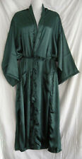 UNISEX SATIN BATH ROBE DRESSING GOWN DRESS plus size 18 , 20 , 22, 24 GREEN