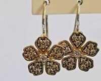 Thomas Sabo Floral Cubic Zirconia Earrings Sterling Silver  BNIB rrp £90