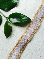 Natural Jute Ribbon with Lace 25mmx 10Yrds DIY Beach Vintage Wedding Invitations