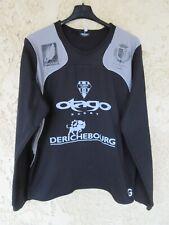 Maillot Sweat training rugby porté C.A BRIVE CORREZE noir OTAGO manches longues