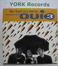 """OUI 3 - For What It's Worth - Excellent Con 7"""" Single"""