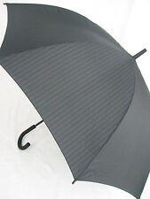 ESPRIT gestreifter Stockschirm Regenschirm Nadelstreifen schwarz Auf- Automatik